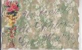 ¤¤  -   CHALON-sur-MARNE    -   Un Bonjour De ......   -  Carte Fantaisie à Paillettes  -  Découpi   -  Fleurs   -   ¤¤ - Châlons-sur-Marne