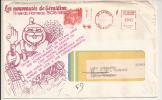 V496 - ETIQUETTE FAUSSE DIRECTION Apposée à ROSHEIM - 1978 - Lettre Du VAL D'OISE - - Marcophilie (Lettres)