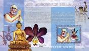 Cdr0602d R.D.Congo 2006 Les Batisseurs De La Paix The Peacemakers Orchid S/s Mineral Nobel Prize - Boeddhisme