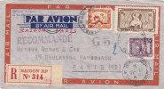 Tres Belle Lettre Recommandée INDOCHINE 1935, Tres Belle Présantation, Voir Au Dos  /d337 - Indochina (1889-1945)