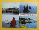Dep 29 , Cpm    DOUARNENEZ , 4 Vues , Vieux Gréements , Le Belem Dans Le Port , Chaloupes Sardinières ....(40) - Douarnenez