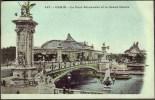 """Novelty  'glitter'  Postcard  """"Paris - Le Pont Alexandre Et Le Grand Palais"""".  C1920. - Unclassified"""