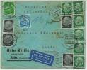 ZEITZ 22.10.1937 Mit Flugpost/airmail Nach Haifa Palestina 65PF   101/2 Gr In Blau   Cfr Scan - Germany