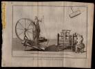 22 X GRAVURE CUIVRE 1740 - FABRIQUE DE SOIERIE - TISSER - TISSAGE - WEAVING - TESSSERE - WEBEN  - PAR JACQUES LE BAS - Estampes & Gravures