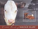 Norfolk Island-2009 Cattle Beef Souvenir Sheet MNH - Norfolk Island