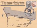 CALVADOS,CAEN En 1964,BASSE NORMANDIE,ANNIVERSAIRE DU DEBARQUEMENT Du 6 Juin 1944,carte,map,fdc - Caen