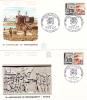 FRANCE,LETTRE,lot  2  Enveloppes,timbre,cachet,FDC,1964,anniversaire Du Débarquement,libération Cherbourg,bayeux - Guerre Mondiale (Seconde)