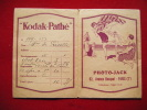 Pochette Photos -pub Kodak Pathe-photo Jack Av Bosquet Paris - Photography