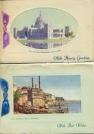 United Kingdom India 1910 3 Carte Voeux Noel Greetings Card Christmas New Year  Benares Bhopal Calcutta Bombay - Royaume-Uni