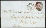 1876 Schöner Brief London-Barcelona/Spanien 2.5 D Plate  3 - 1840-1901 (Viktoria)