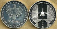 GERMANY 10 EURO EAGLE EMBLEM FRONT 100YEARS 1ST FLIGHT AIRPLANE BACK 2009 D KM? SILVER UNCREAD DESCRIPTION CAREFULLY !!! - [ 7] 1949-… : FRG - Fed. Rep. Germany