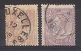 Belgium 1884 1f + 2f Fine Used - 1893-1900 Thin Beard