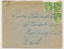 GERMANY - BRITISH ZONE - VF 1948 COVER With Trio Of Yvert # 48 Sent To PROVIDENCE - Bizone