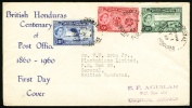 1960 British Honduras. FDC Cover. Corozal Jz.I.60.  (H181c002) - British Honduras (...-1970)