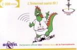 NIGER PREPAYEE PREPAID CARD SONITEL 2000 CFA NIAMEY 2005 JEUX FRANCOPHONIE DINOSAUR CROIX AGADES CROSS GAMES FRANCOFONIA - Niger