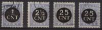 Nederland NVPH P61-64 (o) (oh1-DN155) - Taxes