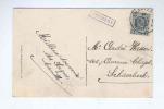592/18 - Carte-Vue CHIMAY Griffe D´ Origine Violette BOURLERS TP Houyoux CHARLEROI 1927 - Poststempel