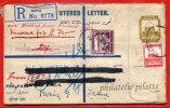 PALESTINE ENTIER POSTAL RECOMMANDE DU 19/07/1934 DE HAIFA POUR PARIS FRANCE COVER - Palestine