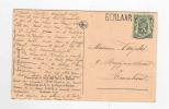 599/18 - Carte-Vue Pensionnat De BERLAER (LIER) Griffe Origine BERLAAR TP Sceau De L'Etat - Poststempel