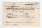 600/18 - Carte De Service En FRANCHISE BIZET 1945 - Griffe Origine WARNETON Biffée Et Corigée En BIZET - Poststempel