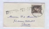 601/18 - Carte De Visite TP Col Ouvert MANAGE 1952 - Griffe Origine FAYT LEZ MANAGE - Poststempel