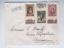 604/18 - Lettre TP Croix Rouge 1939 - Griffe D' Origine (Gare) De VONECHE - Poststempel