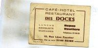 -Routier Café-Hotel-Restaurant   ( Des Docks ) A Reims  51   Voir Scan - Tarjetas De Visita