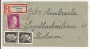 V505 - DEUTSCH RUMBACH - 1944 - Recommandé  Au Tarif 42 Pfennig - Rombach Le Franc - - Marcophilie (Lettres)