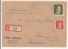 V508 - DREI AHREN - 1944 - Recommandé  Au Tarif 42 Pfennig - TROIS EPIS - - Marcophilie (Lettres)