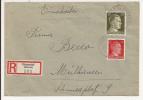 V515 - HAGENTAL - 1943 - Recommandé  Au Tarif 42 Pfennig - HAGENTHAL LE BAS - - Marcophilie (Lettres)
