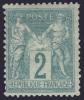 *PROMO* 2c Sage Vert Type 2 (N/U) Neuf * TB (Y&T N° 74, Cote: 165€) - 1876-1898 Sage (Type II)