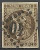 """YT 47 """" Cérès 30c. Brun """" 1870 Losange GC Xx40 - 1870 Bordeaux Printing"""