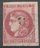 """YT 49 """" Cérès 80c. Rose """" 1870 Losange - 1870 Bordeaux Printing"""