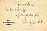 336/18 - Lettre De Dame Envoyée Via La Feldpost Cachet Post Uberwachungstelle HASSELT Vers WURZEN Allemagne - Esercito Tedesco