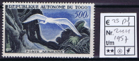 Birds, Togo 1957, Nr 244 MH/ Neuf*