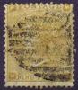 UK 1862 SG 86 Plate Nr 2, 9 D Bistre, Used,  Irregular Perforation Right Top. SG Cat Value UKP 350 - 1840-1901 (Victoria)