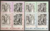Malawi 1971 N° 161 / 8 ** Pâques, Gravures, Albrecht Dürer, Religion, Christ Sur La Croix, Résurrection, Crane, Armes - Malawi (1964-...)