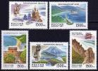 Russia 1997 Russian Regions Region Lanscape Geography Places Nature Archangel Oblast Kaliningrad View MNH Michel 602-606 - Environment & Climate Protection