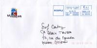 ENVELOPPES , MIMIZAN , Ville - Marcophilie (Lettres)