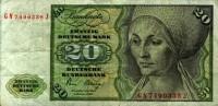 Billet De 20 Zwanzig Deutsche Mark  CONDIZIONI COME DA FOTO          CAT3 PAG4 - [ 7] 1949-… : RFA - Rep. Fed. Tedesca