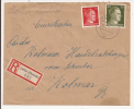 V525 - LINTAL - 1944 - Recommandé  Au Tarif 42 Pfennig - LINTHAL - - Marcophilie (Lettres)