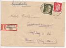 V542 - OBERHASLACH - 1944 - Recommandé  Au Tarif 42 Pfennig - OBERHASLACH  - - Marcophilie (Lettres)