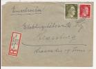 V545 - OBERHOFEN BISCHWEILER - 1944 - Recommandé  Au Tarif 42 Pfennig - BISCHWILLER OBERHOFFEN  - - Marcophilie (Lettres)