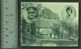 """Novelty :  A Miniature Postcard  """"Dear Old Blighty"""".  C1910  (soldier) - Unclassified"""