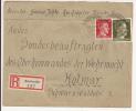 V558 - REICHWEILER - 1944 - Recommandé  Au Tarif 42 Pfennig - RICHWILLER - - Marcophilie (Lettres)