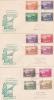Norfolk Islands-1947 Ball Bay  Set 3 FDCs Addressed - Norfolk Island