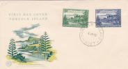 Norfolk Islands-1959 Ball Bay  WCS FDC - Norfolk Island