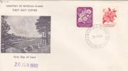 Norfolk Islands-1960 Flora & Fauna  5d & 8d Flowers  FDC - Norfolk Island