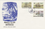 Norfolk Island-1982 Shipwrecks Dated 18 May FDC - Norfolk Island
