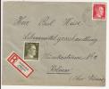 V564 - SCHNIERLACH - 1944 - Recommandé  Au Tarif 42 Pfennig - LAPOUTROIE - - Marcophilie (Lettres)